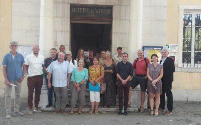 [COMMUNIQUE DE PRESSE] – Parc photovoltaïque participatif dans le Var – La commune d'Aups a réuni le premier comité de pilotage  avec le consortium Tenergie